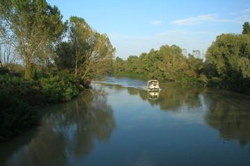 In barca sul Delta del Po