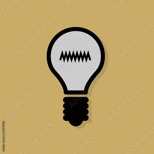 Light Bulb icon or sign, vector
