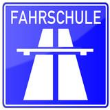 Führerschein Fahrschule Schild #131110-svg02