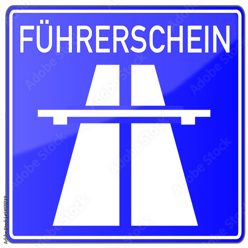 Führerschein Fahrschule Schild  #131110-svg01