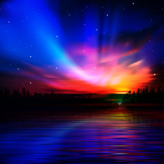 abstract nature background with sunrise