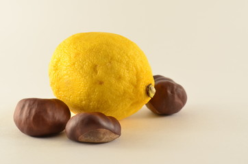 lemon and chestnuts