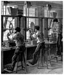 Crystal-Glass Industry - Workers - 19th century