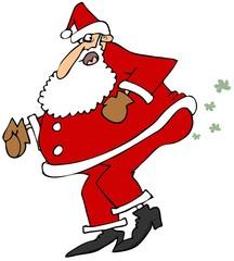Santa breaking wind