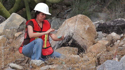 Geologist Woman Data Collection