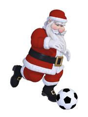 Santa playing football
