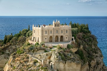 The south Italy, area Calabria, church of Tropea city