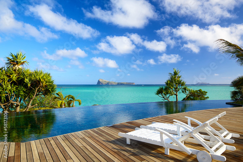 canvas print picture Tropical relax in Mauritius