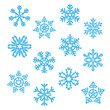Set Eiskristall Schneeflocke Weihnachten Winter - 58173380