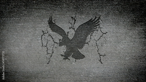 American Eagle appearing in a granite wall