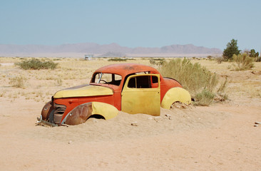 Abandoned car in Solitaire, Namibia