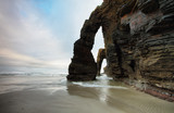 Fototapety Beach of the Cathedrals in Ribadeo, Spain