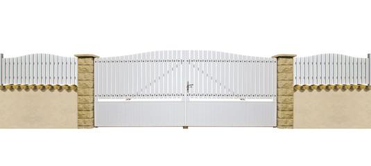 portail et clôture en PVC blanc