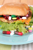 Conceptual image for nutritional care:assorted vitamins and