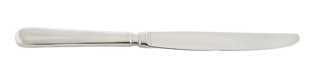 Stainless steel metal knife isolated