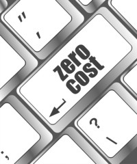 Zero Cost keyboard Keys Show Analysis And Value Of An Investment