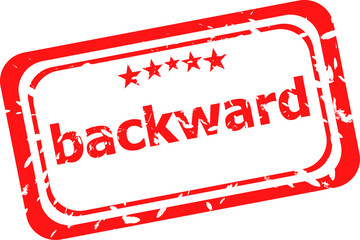 backward word on red rubber grunge stamp