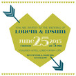 Wedding Invitation Card - Feather Arrows and Heart Theme