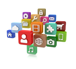 App icons - isolated on white
