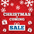 Christmas is coming sale background.