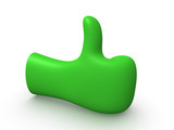 3d hand showing thumbs up