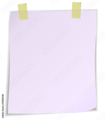 Empty paper sheet isolated on white background.
