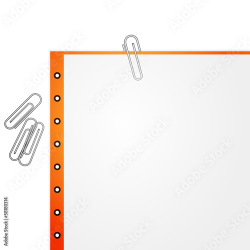 Metal paper clip and paper