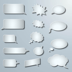 3d comic speech bubbles