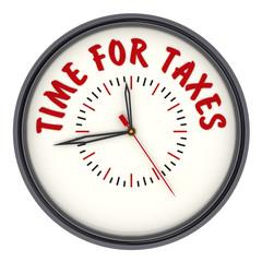 Time for taxes. Часы с надписью