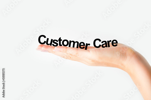 Customer care concept