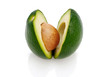 avocado on white background