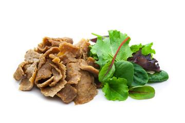 kebab al plato ternera