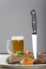 Spare rips mit Messer