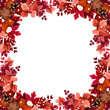 Autumn leaves frame. Vector illustration.