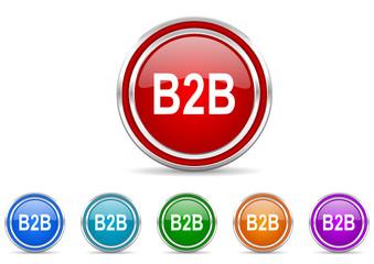 b2b icon vector set