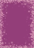 Pink snowflakes on purple background