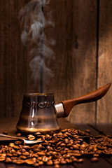 Coffee brewing pot vertical  still-life