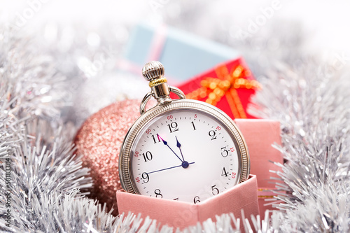 New year clock horizontal