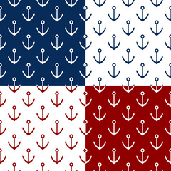Vector set of 4 patterns with anchor