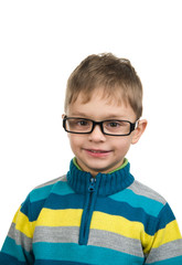 Cute kid with glasses