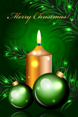 Vector Christmas green background