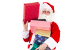 Santa Claus with lot of beautiful gifts
