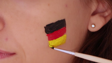 face painting flag of German