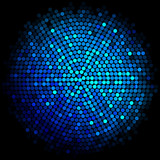 Vector blue disco lights background