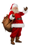 Fototapety Real Santa Claus carrying big bag