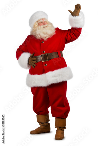 Santa Claus Presenting something