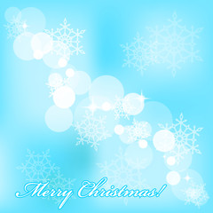 Vector Merry Christmas background with snowflakes