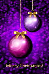Vector Merry Christmas purple background