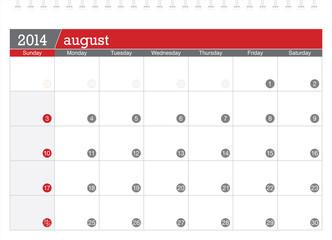 august 2014-planning calendar