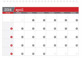april 2014-planning calendar